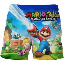 Супер Марио игра забавные милые шорты девушки летние шорты для мальчиков подростков мультфильм Досуг Короткие штаны детская пляжная тонка...