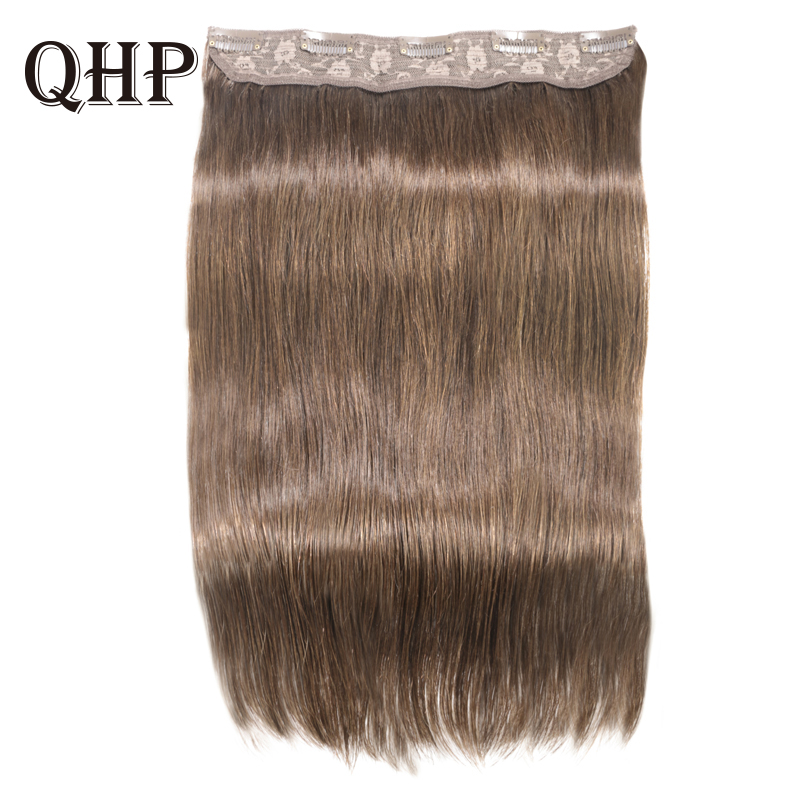 Hair Straight  Clip In Human Hair Extensions #1#1B #4 #8 #613 #27 #32 Remy Hair 5 Clips In 1 Piece Human Hair