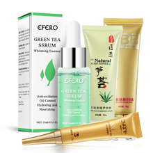 EFERO Whitening Serum Green Tea Essence Face Oil Control Shrink Pores Anti-aging Nourishing Skin Care 15ml