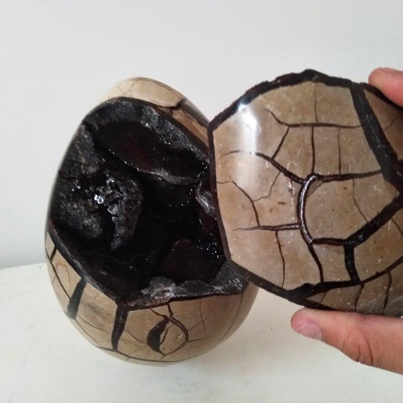 자연 septarian 스톤 geode 크리스탈 드래곤 에그 완벽한 크리스탈 클러스터 돌과 크리스탈 조합-에서돌부터 홈 & 가든 의  그룹 1