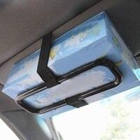 새로운 휴대용 자동차 썬 바이저 티슈 페이퍼 박스 홀더 범용 자동 시트 백 종이 냅킨 시트 백 브래킷 자동차 액세서리 4 휴지 상자 자동차 및 오토바이 -
