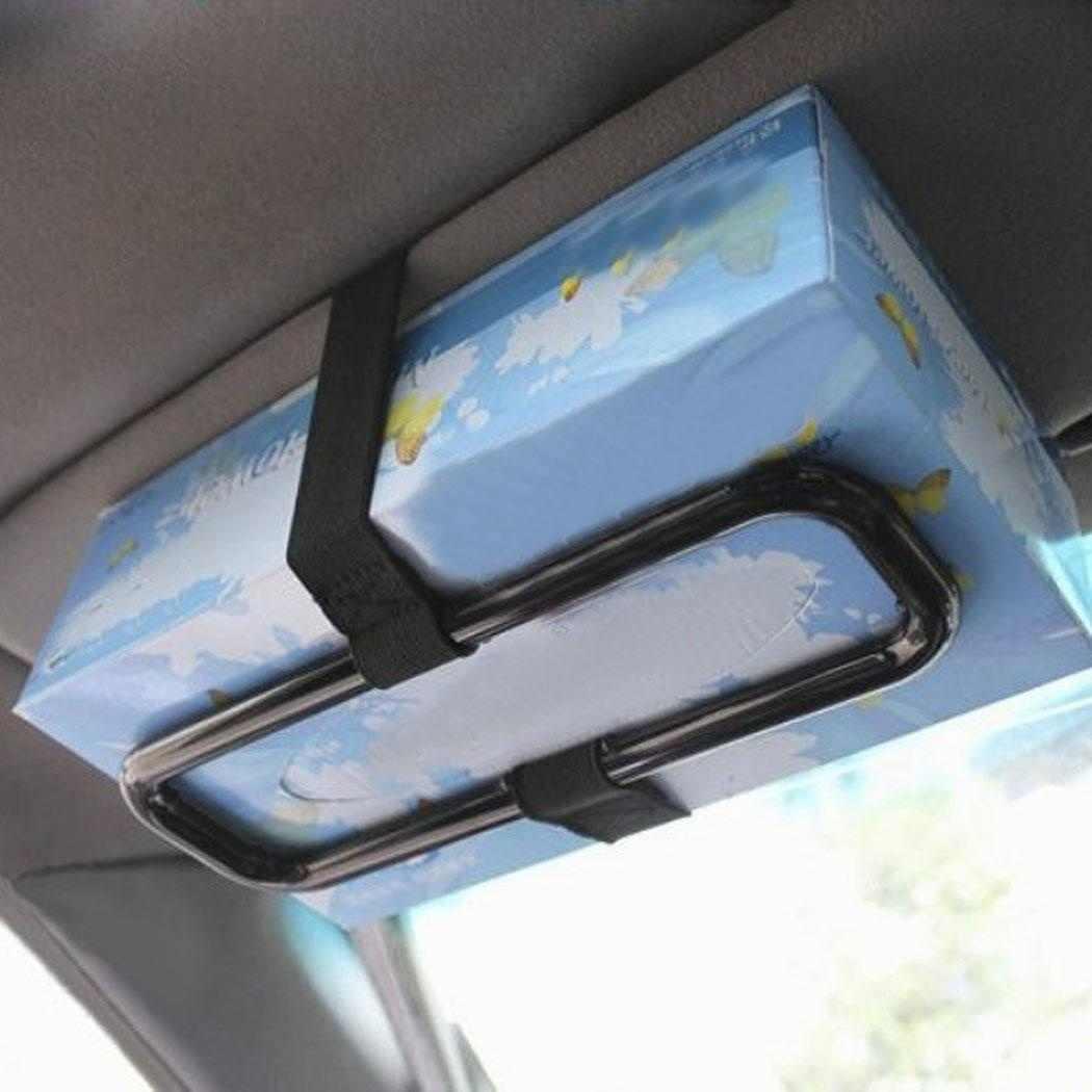 新ポータブル車のサンバイザーティッシュペーパーボックスホルダー自動車シートバック紙ナプキンシートバックブラケットオートアクセサリー 4