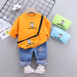 Одежда для маленьких мальчиков От 0 до 5 лет на весну и осень для мальчиков, костюм с изображением героев мультфильмов с длинными рукавами рю...