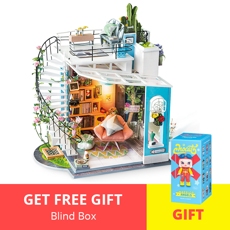 Robotime DIY Dollhouse 3D Wooden Puzzle Miniature Dollhouse Assembly Model Building Kits Toys For Adults Birthday Gift DG12 image