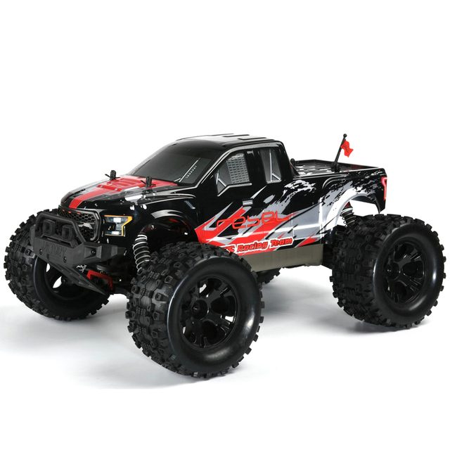 FS Racing 1:10 Bigfoot Car 4WD High Speed Brushless Remote Control Car with Body ESC Motor 2.4G Remote Control - RTR Version 4