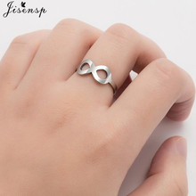 Fashion Eternity Infinity Rings for Women Girls Endless Love Symbol Adjustable Number 8 Shaped Open Ring Best Friend Gifts