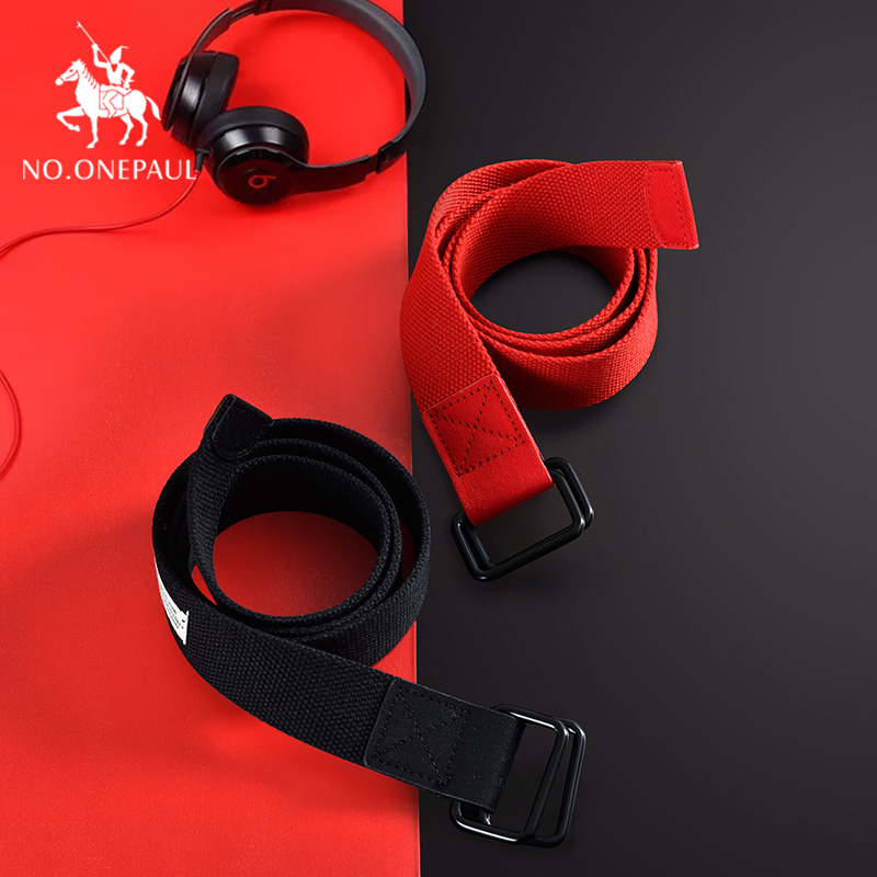 NO.ONEPAUL Women Belt Luxury Brand Alloy Adjustable Buckle Solid Color Long Belts Women Fashion Cute Casual Female Waist Belts