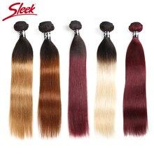 Elegancki włosy brazylijskie ombre prosto 1B/30 1B/27 1B/99J ludzkich włosów splot zestawy Deal Two Tone Remy do włosów 1 sztuka wątek przedłużanie włosów