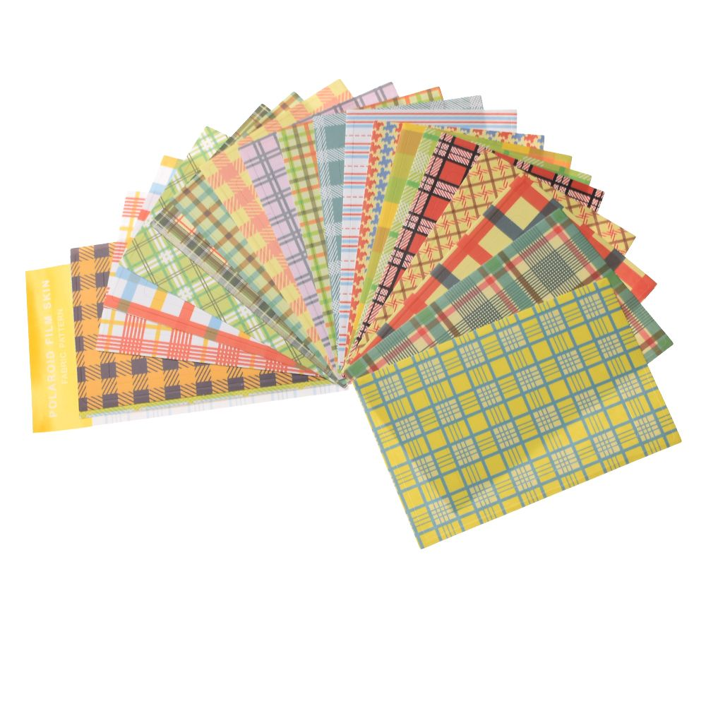 20PCS/Pack Colorful Masking Craft  Photo Decoration Stickers Good Paper Decorative Photo Paper Sticker 9cm X 6cm