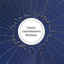 Luokey colar de cristal do zodíaco, 12 constelações do zodíaco, taurus sagitário, capricorn, aquário, libra de câncer, pisces, leo, gargantilha, bijoux 2020