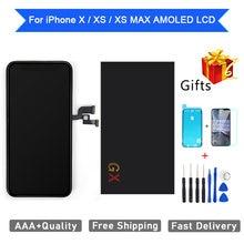 Aaa +++ amoled gx для iphone x xs max ЖК дисплей с 3d сенсорным