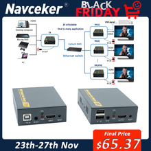 IP di Rete USB 2.0 KVM Extender Con IR di Controllo 1080P HDMI Over LAN KVM Extender 120m HDMI KVM estensore Da RJ45 Cat5 Cat5e Cat6