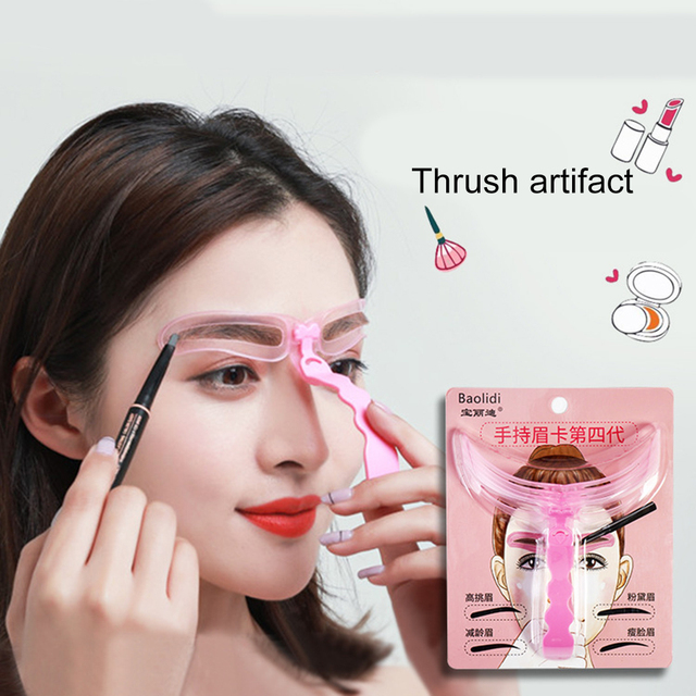 Eyebrow Kits Tool Grooming And Grooming Eyebrow Card Makeup Tools Cosmetic Accessoy 4 In1 Eyebrow Muold Template Stencil Drawing
