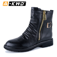 Fashion Side Zippers Ankle Boots Men Shoes Winter High Top Leather Sneakers Men Boots Chaussures Homme Hiver Motorcycle Boots 43