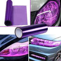 2020 Hot Sale Purple 12*60 Inch Smoke Car Headlight Taillight Fog Light Tint Film Vinyl Wrap Brand New And High Quality