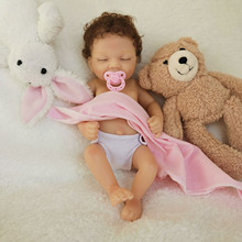 2020 11'' AVANI DOLL Mini Reborn Baby Doll Full Body Vinyl Newborn Baby Doll Girl