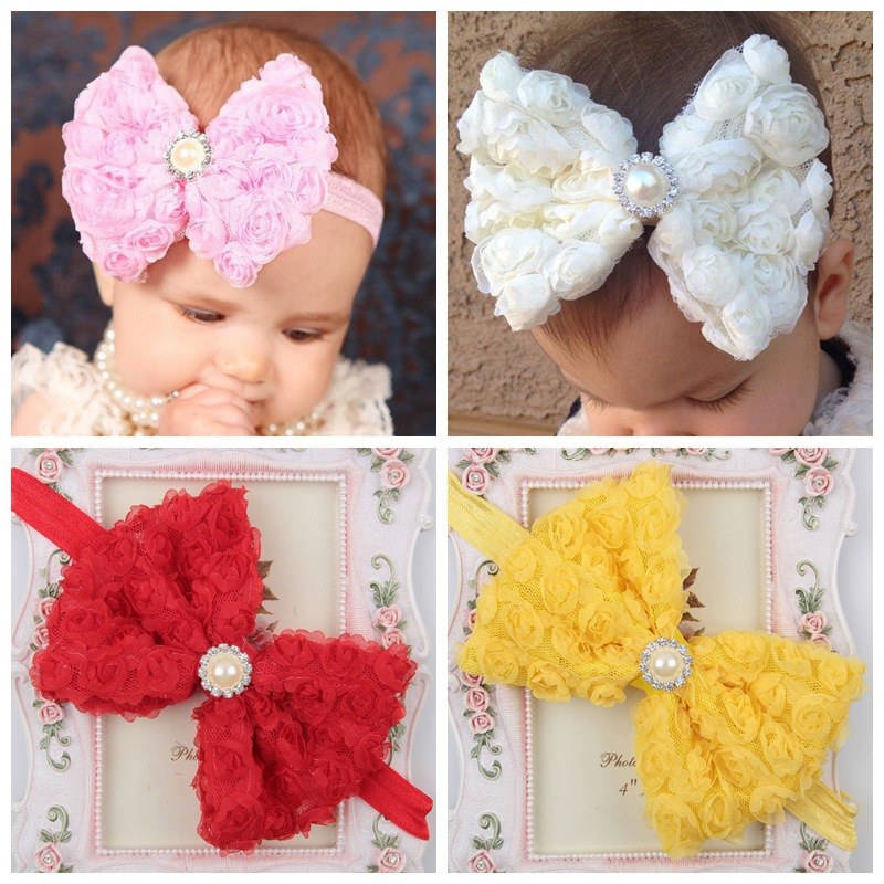 Baby Girl Headband Infant Hair Accessories Bowknot Newborn Headwear Tiara Headwrap Band Hairband Gift Toddlers Clothes