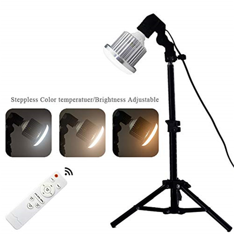 Image 5 - LED Professional photography lamp 95W  Adjustable Wireless remote control three color video light 3000K 6500K E27 bulb lamp-in Photographic Lighting from Consumer Electronics
