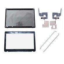 Capa para portátil para asus k52 a52 x52 k52f k52j k52jk a52jr x52jv a52j 13gnxz1am044 1 lcd capa traseira/lcd moldura dianteira/dobradiças/suporte