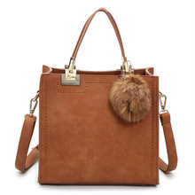 цена на 2020 Fashion women handbag frosted shoulder bag simple small square bag retro shoulder diagonal girl bag women handbags