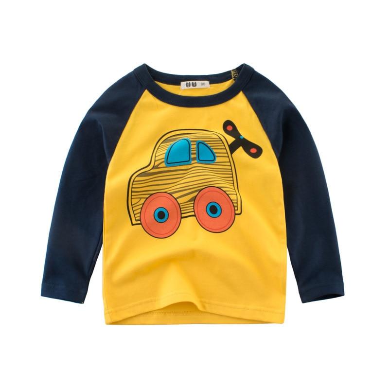 Autumn New Products Childrenswear Base Shirt Pure Cotton Children Long Sleeve BOY'S T-shirt Medium-small Baby T-shirt