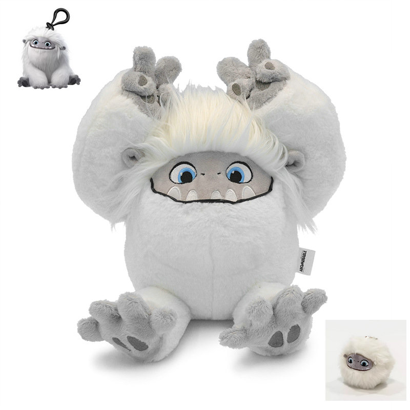 Yeti Plush Toy Fluffy White Hair Snowman Monster Stuffed Animals Toys Movie Action Anime Fiutre Doll Toys For Children Birthday