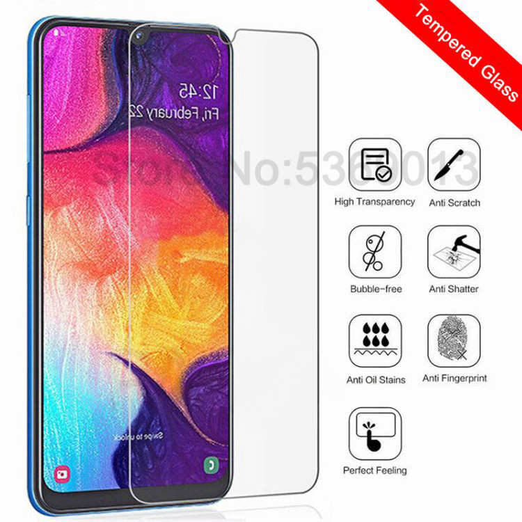 Protective Glass On For Samsung Galaxy A10 A20 A30 A40 A50 A60 A70 A80 A90 A20E A40S M10 M20 M30 M40 Screen Tempered Glass Film
