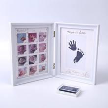 Рамка для фотографирования новорожденных детей с принтом рук ног