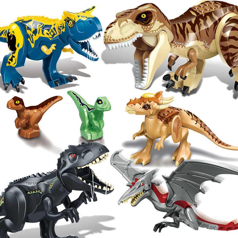 Raptor Brutal de Construção Blocos Mundo Jurássico Legoings 2 MINI Dino Dinossauro Figuras Bricks Brinquedos Para As Crianças Presente de Dinossauros