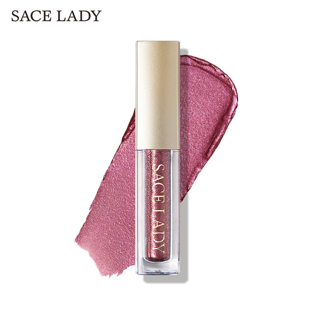 SACE LADY Glitter Eyeshadow Makeup Liquid Shimmer Eye Shadow Metals Illuminator Glow Kit Make Up Highlighter Cream Cosmetic 5