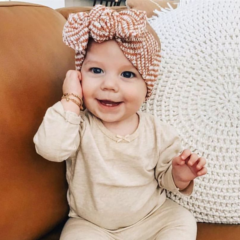 Baby Girl Headbands For Girls Bandeau Bebe Fille Baby Headband Baby Hair Accessories Baby Bows Turban Headband Topknot Head Wrap