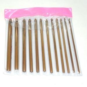 Image 4 - 12 adet bambu tığ kanca seti DIY örme İğneler kolu ev örgü örgü ipliği el sanatları ev örgü araçları