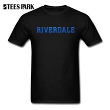 T Shirt Riverdale Logo Printed Funny T-Shirts Teenage Pre-Cotton Short Sleeve Tees Humor TV Men's Casual Round Collar(China)
