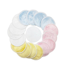 16 PACK Reusable Makeup Remover Bamboo Cotton Pads  Organic Rounds Laundry Bag Included Zero Waste and Chemical Free