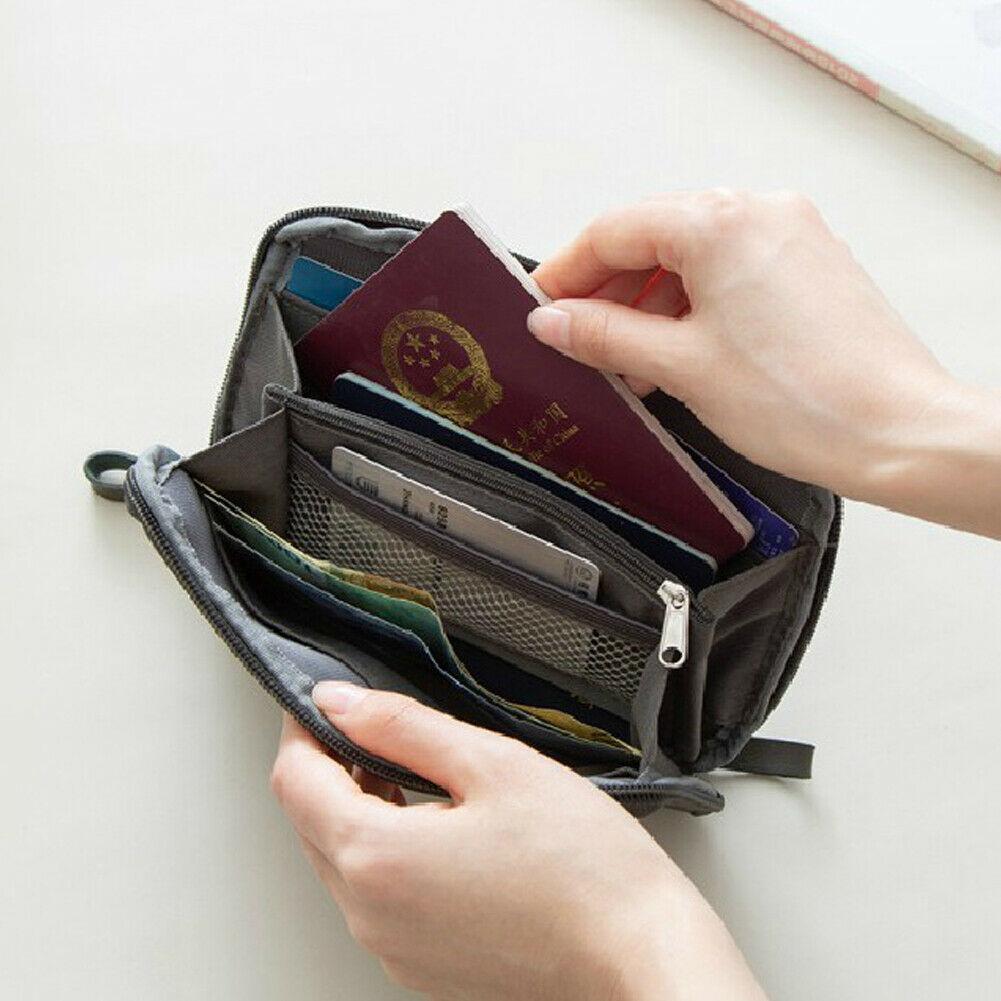 Travel Passport Wallet Holder Document Tickets Cards Money Case Cover Organizer