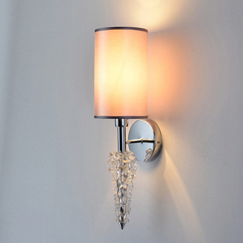 Luxury Modern Crystal Wall Light Chrome Led Wall Sconce Lamp Brief Bedside Cristal Lights For Bedroom