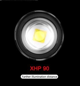 Image 5 - Litwod 2064z15 החזק ביותר XHP90 Led פנס פנס 32W זום 18650 כוח בנק פנס ראש מנורה