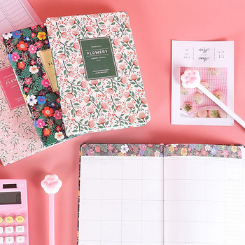 1pc Flowery Daily Weekly Monthly Planner A5 A6 Notebook Time Memo Undated Planning Organizer Agenda Stationery School Supplies image