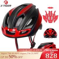 X-Tiger Fahrrad Helm Outdoor-Sport Ultraleicht LED Licht Radfahren Sicherheit Helm Intergrally-geformten Berg Rennrad MTB helm