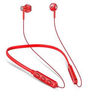 Bluetooth 5,0 наушники с шейным ремешком Беспроводные наушники с басами стерео спортивные водонепроницаемые IPX5 гарнитуры с микрофоном регулятор...