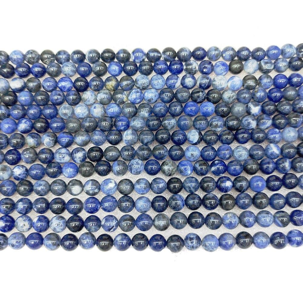 Natural Brazilian Blue Ribbon Beads Semi-finished Brazilian Blue Beads Semi-precious Stones Handmade Necklace DIY Bracelet 39cm 3