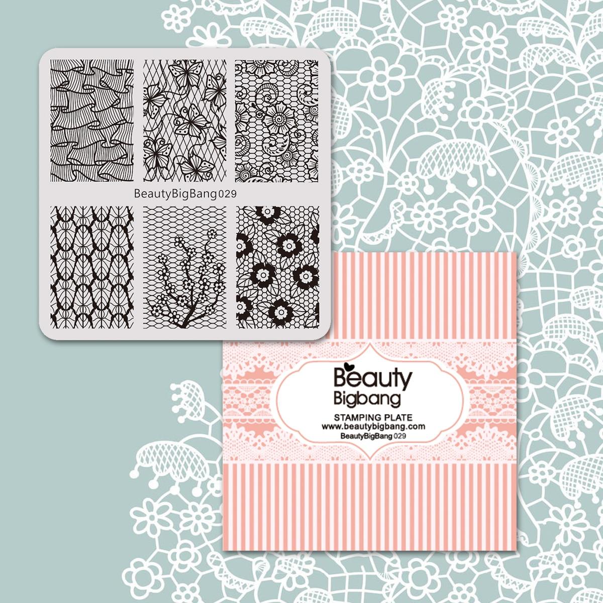 beautybigbang prego stamping placas beleza laco borboleta 04