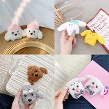 Plush Teddy Case For AirPods Case Case Earbud Coque Headphones Case Cartoon Earpods