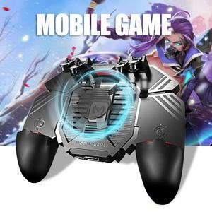 Image 3 - AK77 PUBG Controller Helper Mobile Phone Radiator Six Fingers Linkage Game Button Physical Compression Quick Shooting Handle
