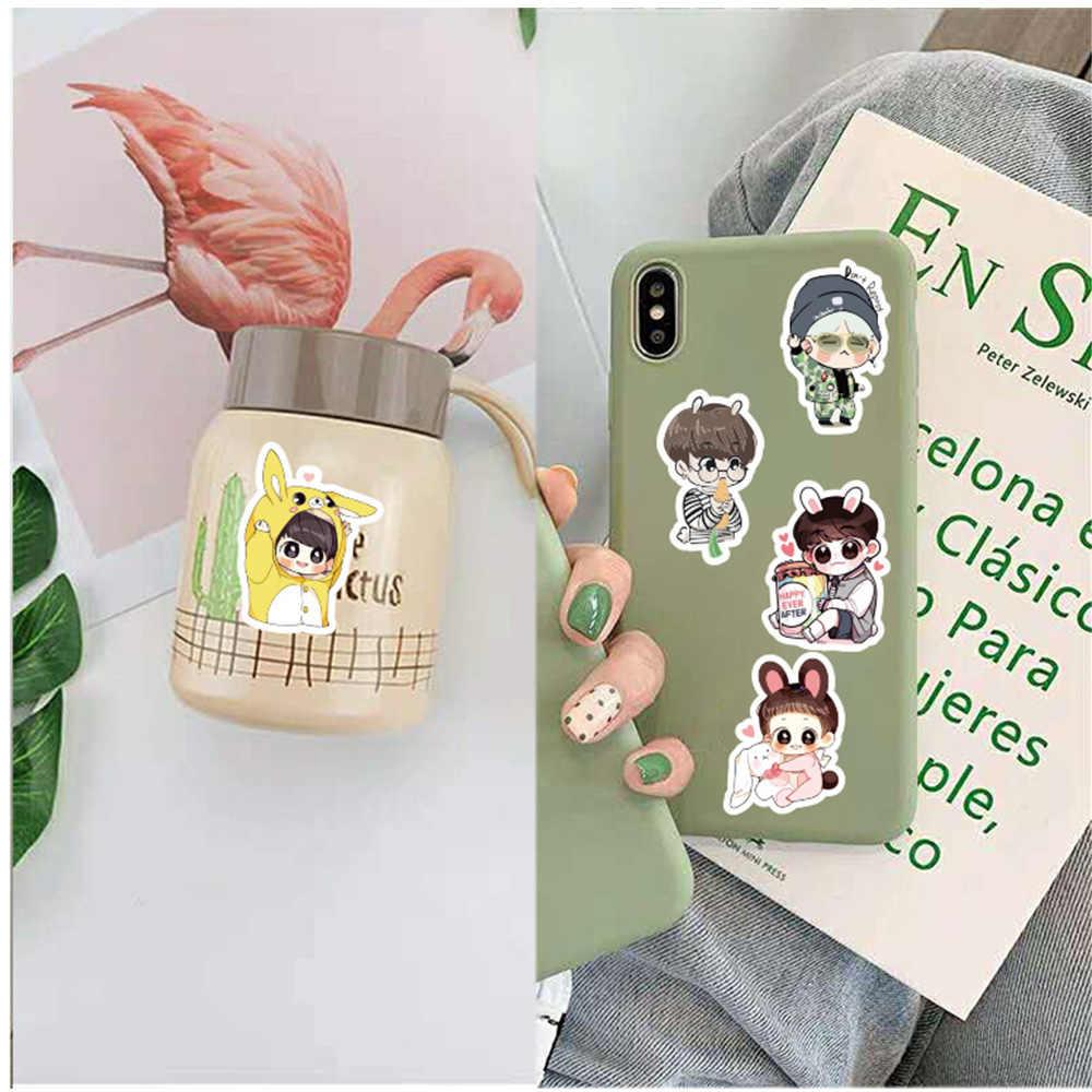 Kpop etiqueta engomada 40 piezas paquete bomba libro pegatinas Green Stitch tu álbum diario etiqueta tatuaje lindo de moda Anime Kpop pegatinas