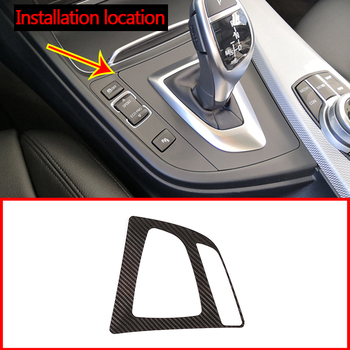 Real Carbon Fiber Style Console Gear Shift Frame Trim For BMW F30 3 Series 2013-2018 Car Accessories For Left Hand Drive