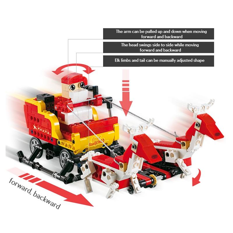 Cada C51034 Santa Claus 2 IN 1 Building Block