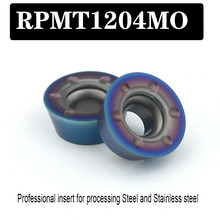 RPMT1204 APMT1003 blue nano coating Lathe Tool Milling cutter blade Insert Cutting Tool CNC Turning Tools Processing Steel coating taper milling cutter carving knifer for acrylic plastic processing shk12mm 30degree