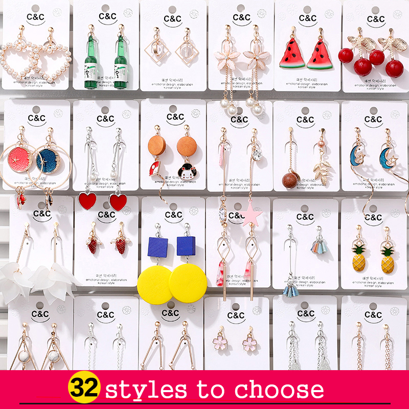 2019 Hot Sale Korean Style Clip On Earrings Geometric Long Ear Clips For Fashion Girl Student Party Prom No Pierced Earring Gift