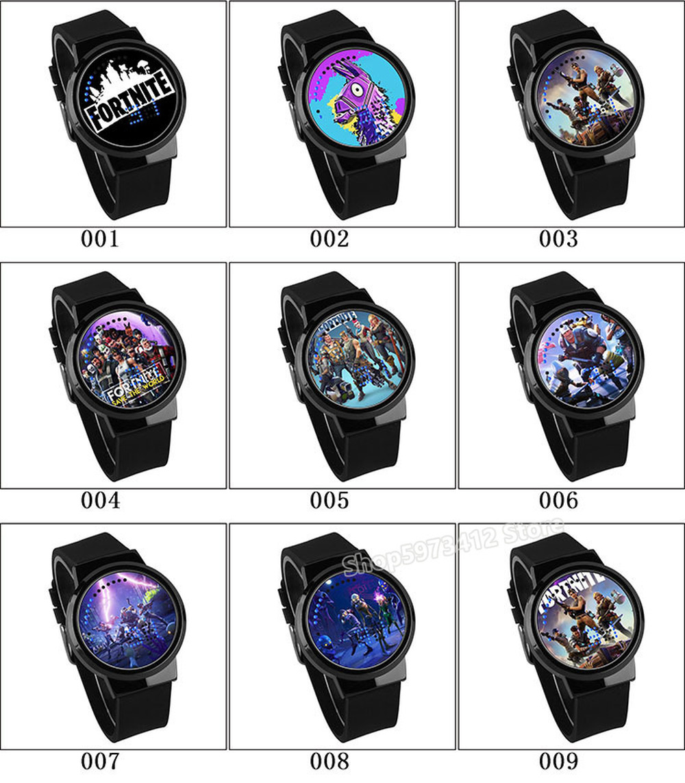 Fortress Night Watch Fortnites Royale Battle Game Luminous Touch Led Watch Digital Wristwatches Waterproof Men Women Watch Gift